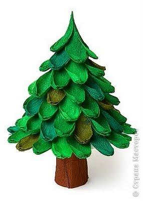 Arbol de navidad con papel de pinocho un rinc n en casa - Manualidades de arboles de navidad ...