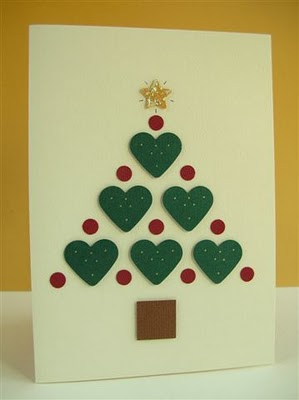 M s postales de navidad f ciles un rinc n en casa - Tarjetas de navidad faciles ...