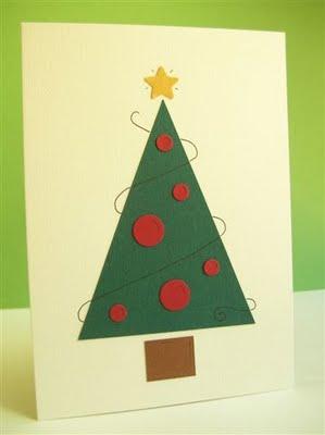 Postales de navidad f ciles un rinc n en casa - Tarjetas de navidad faciles ...