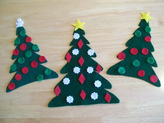 Manualidades Arboles De Navidad Un Rincon En Casa - Manualidades-de-navidad-de-papel