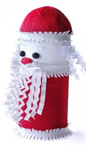 Manualidades navide as con rollos de papel higi nico un - Manualidades con papel navidenas ...
