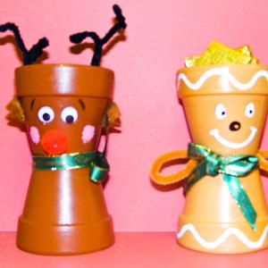 navidad con macetas