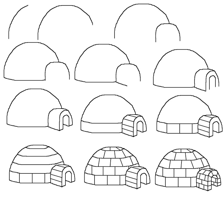 Aprendemos A Dibujar Un Iglú Un Rincón En Casa