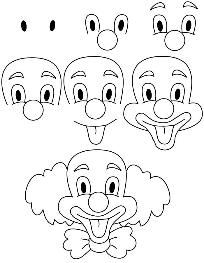 dibujar payaso