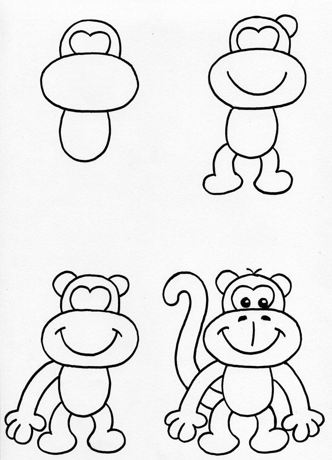 Paarden Kleurplaten Makkelijk Aprendemos A Dibujar Un Mono Un Rinc 243 N En Casa