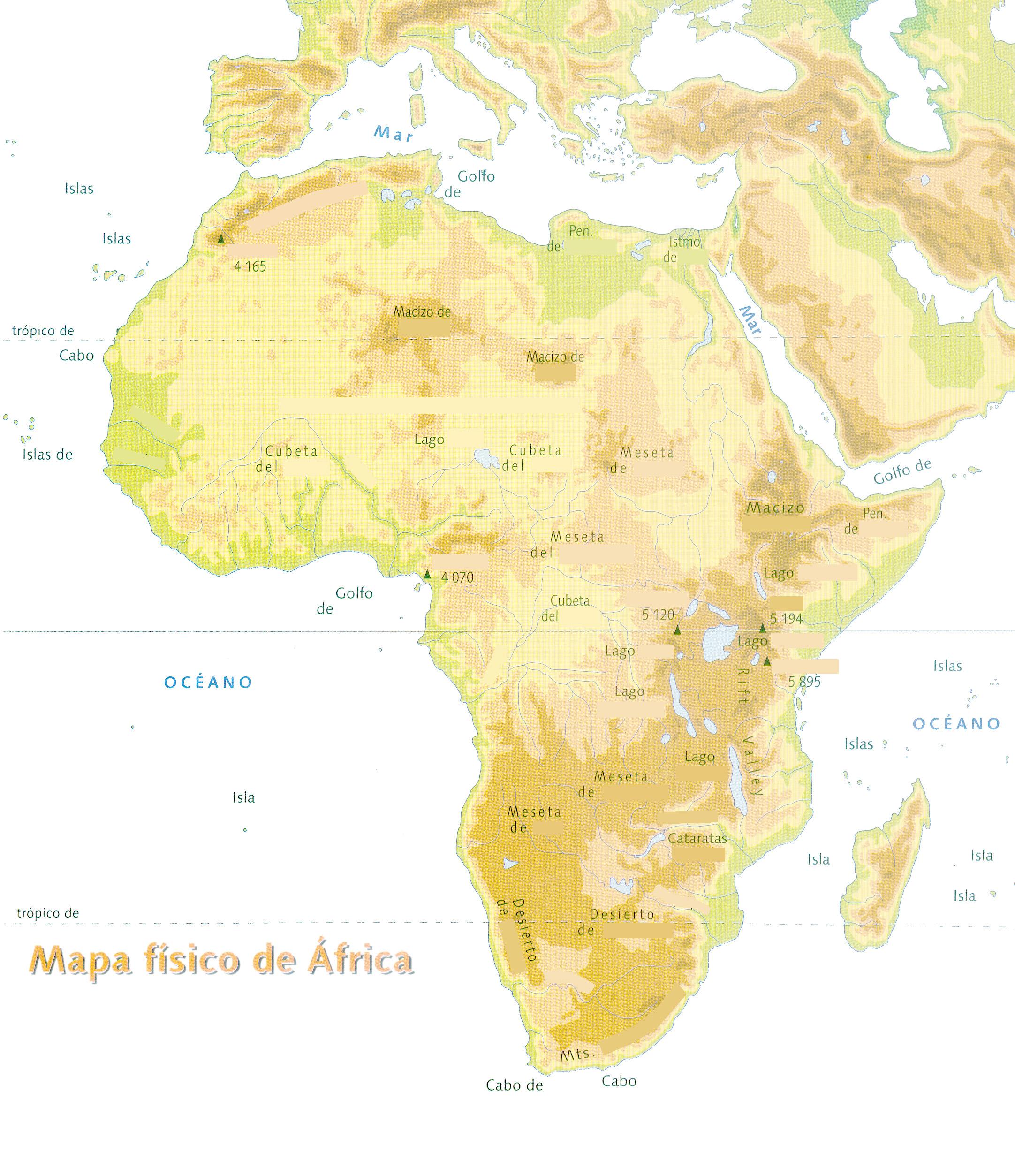 Mapa Mudo Fisico Africa Imprimir.Africa Un Rincon En Casa