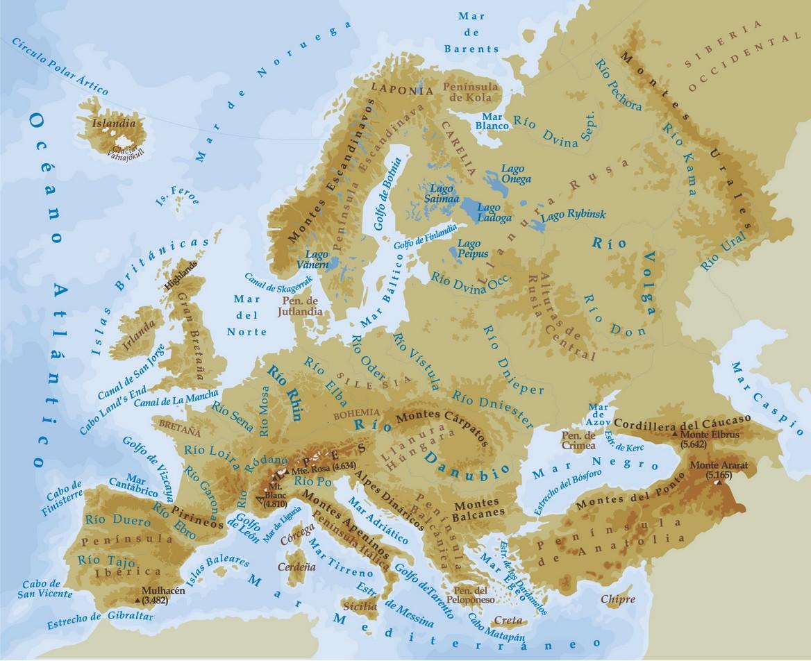 Mapas de Europa  Un rincn en casa
